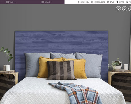 vinyl wood panel bed headboard